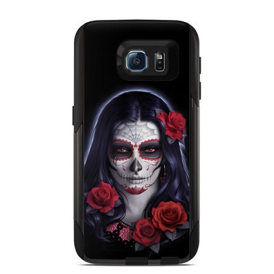 Otterbox Commuter Galaxy S6 Case Skin - Sugar Skull Rose