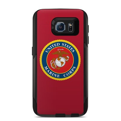 Otterbox Commuter Galaxy S6 Case Skin - USMC Red