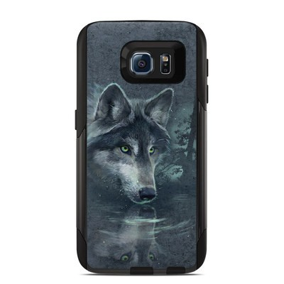 OtterBox Commuter Galaxy S6 Case Skin - Wolf Reflection