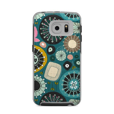 OtterBox Commuter Galaxy S6 Edge Case Skin - Blooms Teal