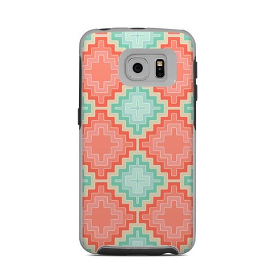 OtterBox Commuter Galaxy S6 Edge Case Skin - Coral Diamond