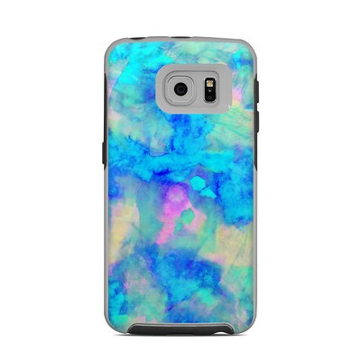 OtterBox Commuter Galaxy S6 Edge Case Skin - Electrify Ice Blue