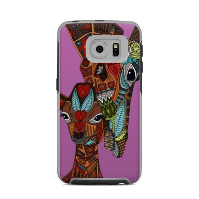 OtterBox Commuter Galaxy S6 Edge Case Skin - Giraffe Love