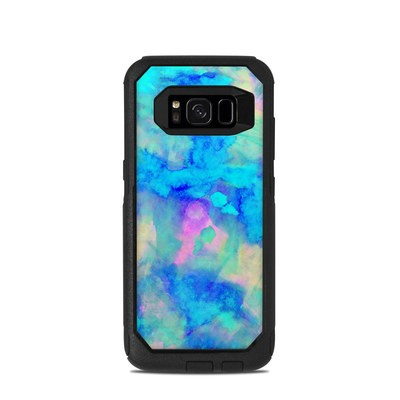 OtterBox Commuter Galaxy S8 Case Skin - Electrify Ice Blue