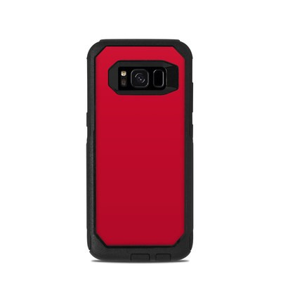 OtterBox Commuter Galaxy S8 Case Skin - Solid State Red
