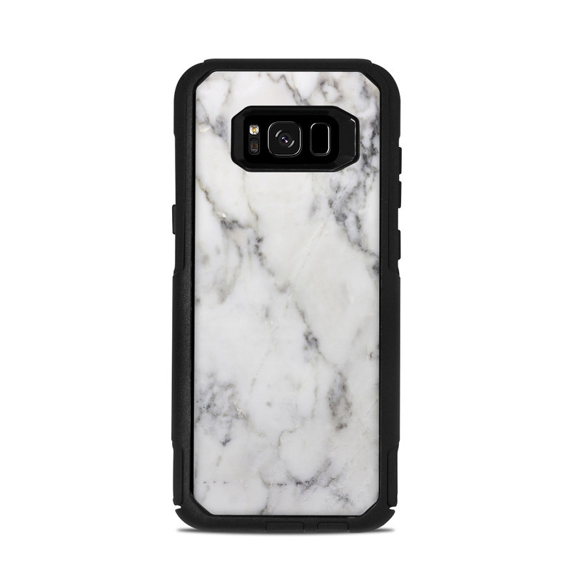 best service d5e96 a35ed OtterBox Commuter Galaxy S8 Plus Case Skin - White Marble