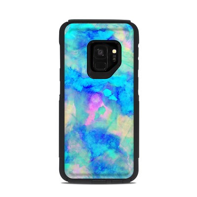 OtterBox Commuter Galaxy S9 Case Skin - Electrify Ice Blue