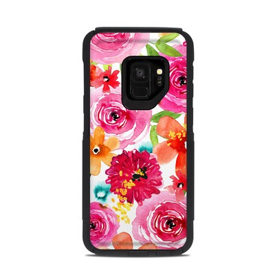 OtterBox Commuter Galaxy S9 Case Skin - Floral Pop