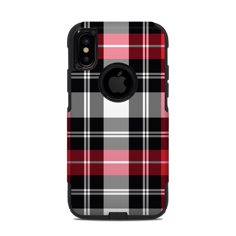 new style 4dbb0 47aba OtterBox Commuter iPhone X-XS Case Skin - Red Plaid by DecalGirl Collective