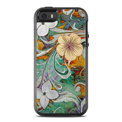 OtterBox Symmetry iPhone SE Case Skin - Sangria Flora