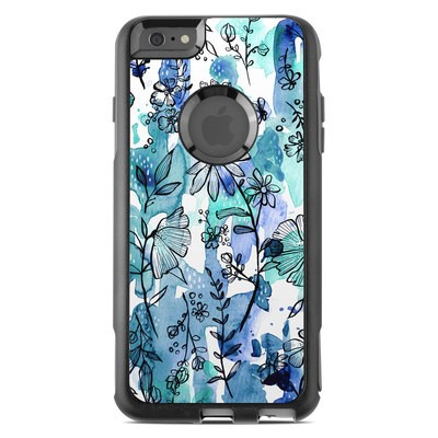 OtterBox Commuter iPhone 6 Plus Case Skin - Blue Ink Floral