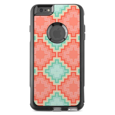 OtterBox Commuter iPhone 6 Plus Case Skin - Coral Diamond