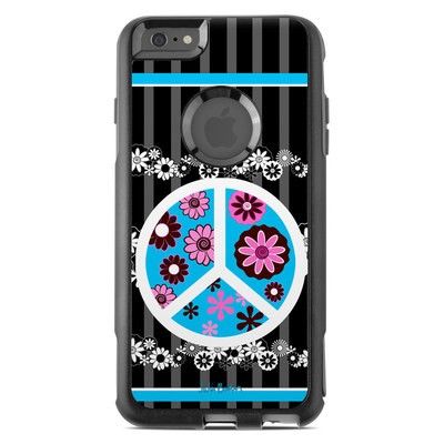OtterBox Commuter iPhone 6 Plus Case Skin - Peace Flowers Black