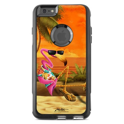 OtterBox Commuter iPhone 6 Plus Case Skin - Sunset Flamingo