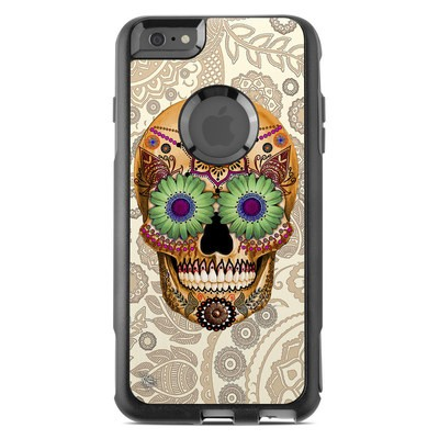 OtterBox Commuter iPhone 6 Plus Case Skin - Sugar Skull Bone