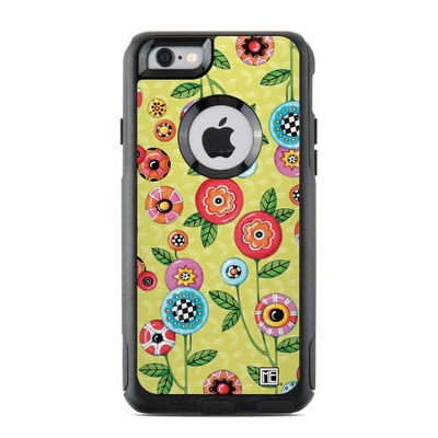 OtterBox Commuter iPhone 6 Case Skin - Button Flowers