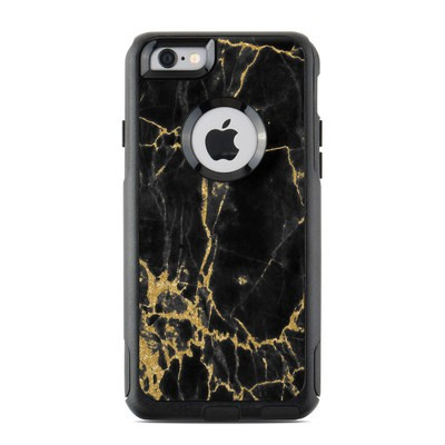 OtterBox Commuter iPhone 6 Case Skin - Black Gold Marble