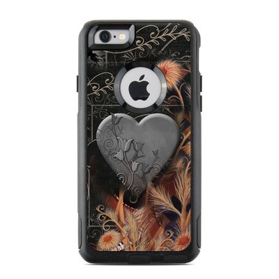 OtterBox Commuter iPhone 6 Case Skin - Black Lace Flower