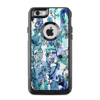 OtterBox Commuter iPhone 6 Case Skin - Blue Ink Floral