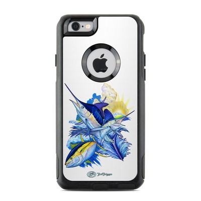 OtterBox Commuter iPhone 6 Case Skin - Blue White and Yellow