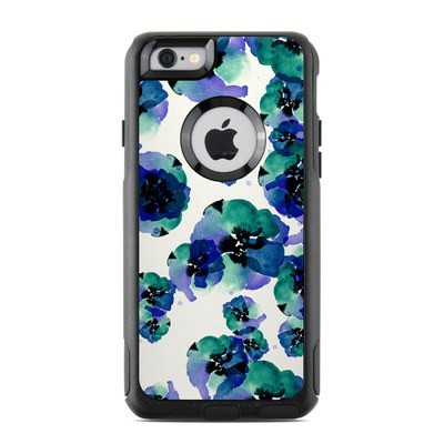 OtterBox Commuter iPhone 6 Case Skin - Blue Eye Flowers
