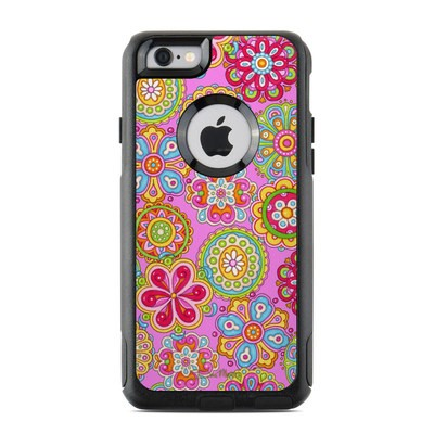 OtterBox Commuter iPhone 6 Case Skin - Bright Flowers