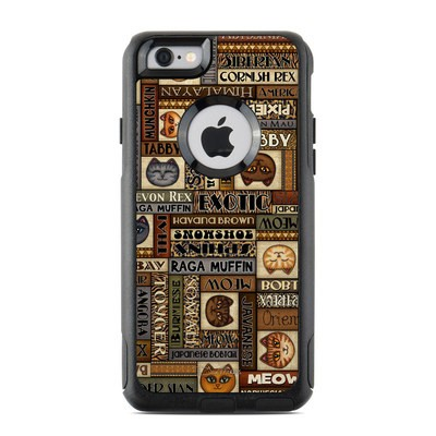 OtterBox Commuter iPhone 6 Case Skin - Cat Breeds