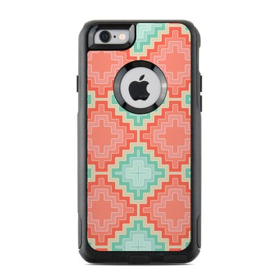 OtterBox Commuter iPhone 6 Case Skin - Coral Diamond