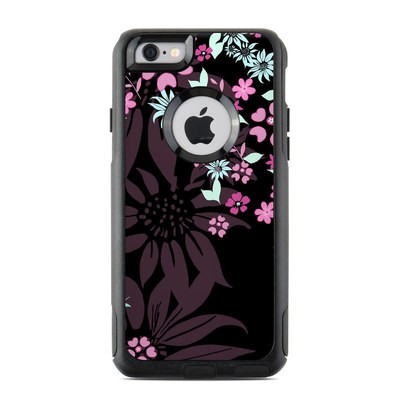 OtterBox Commuter iPhone 6 Case Skin - Dark Flowers