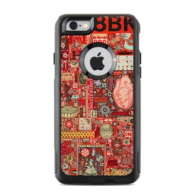 OtterBox Commuter iPhone 6 Case Skin - Heart and Teeth