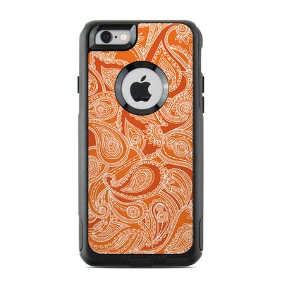 OtterBox Commuter iPhone 6 Case Skin - Paisley In Orange