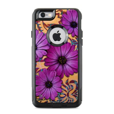 OtterBox Commuter iPhone 6 Case Skin - Purple Daisy Damask