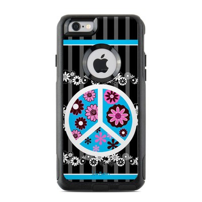 OtterBox Commuter iPhone 6 Case Skin - Peace Flowers Black