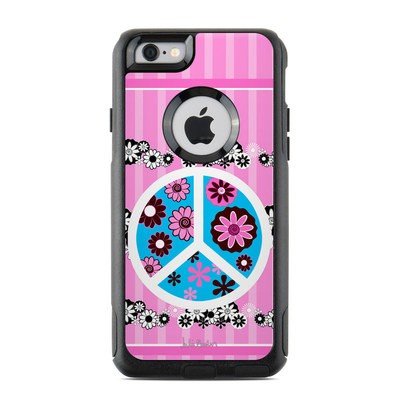 OtterBox Commuter iPhone 6 Case Skin - Peace Flowers Pink