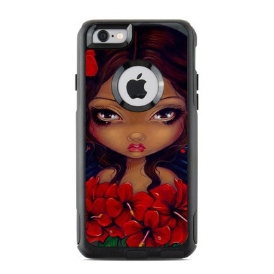 OtterBox Commuter iPhone 6 Case Skin - Red Hibiscus Fairy