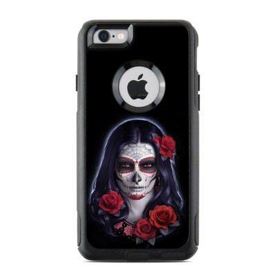 OtterBox Commuter iPhone 6 Case Skin - Sugar Skull Rose