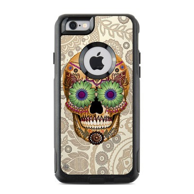 OtterBox Commuter iPhone 6 Case Skin - Sugar Skull Bone