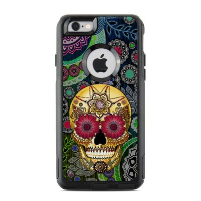 OtterBox Commuter iPhone 6 Case Skin - Sugar Skull Paisley