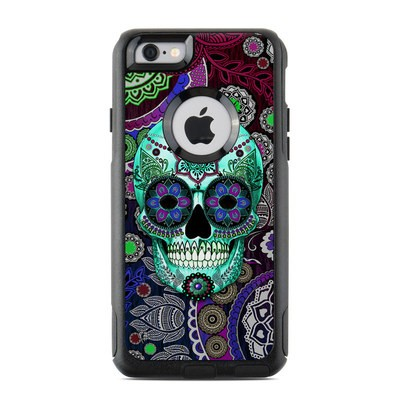 OtterBox Commuter iPhone 6 Case Skin - Sugar Skull Sombrero