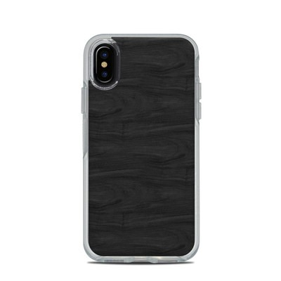 OtterBox Symmetry Clear iPhone X Case Skin - Black Woodgrain