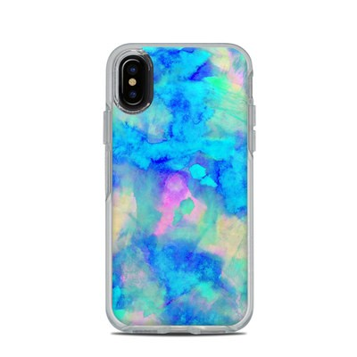 OtterBox Symmetry Clear iPhone X Case Skin - Electrify Ice Blue