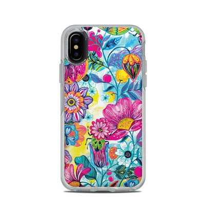 OtterBox Symmetry Clear iPhone X Case Skin - Natural Garden