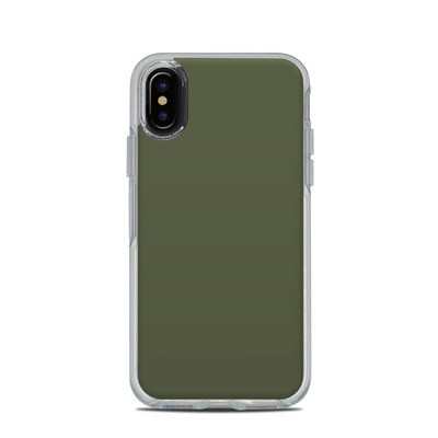 OtterBox Symmetry Clear iPhone X Case Skin - Solid State Olive Drab