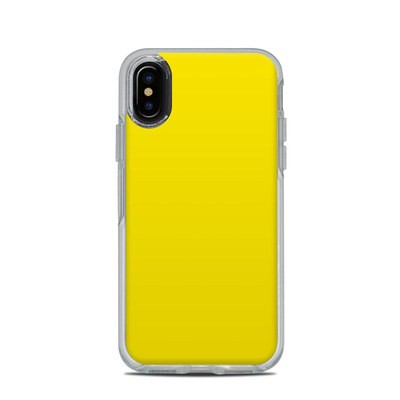 OtterBox Symmetry Clear iPhone X Case Skin - Solid State Yellow