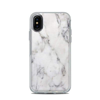 OtterBox Symmetry Clear iPhone X Case Skin - White Marble