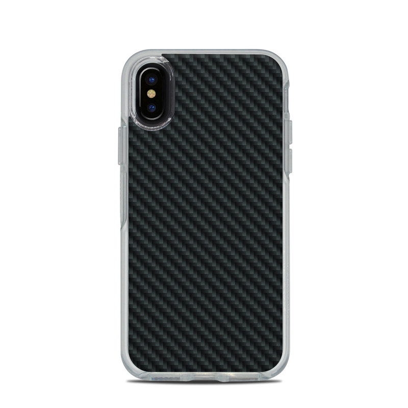 finest selection d3319 edb5a OtterBox Symmetry Clear iPhone X Case Skin - Carbon by DecalGirl Collective