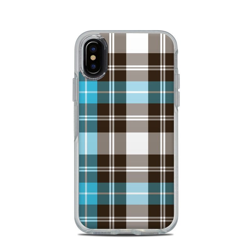 the best attitude b0703 f9da9 OtterBox Symmetry Clear iPhone X Case Skin - Turquoise Plaid by DecalGirl  Collective