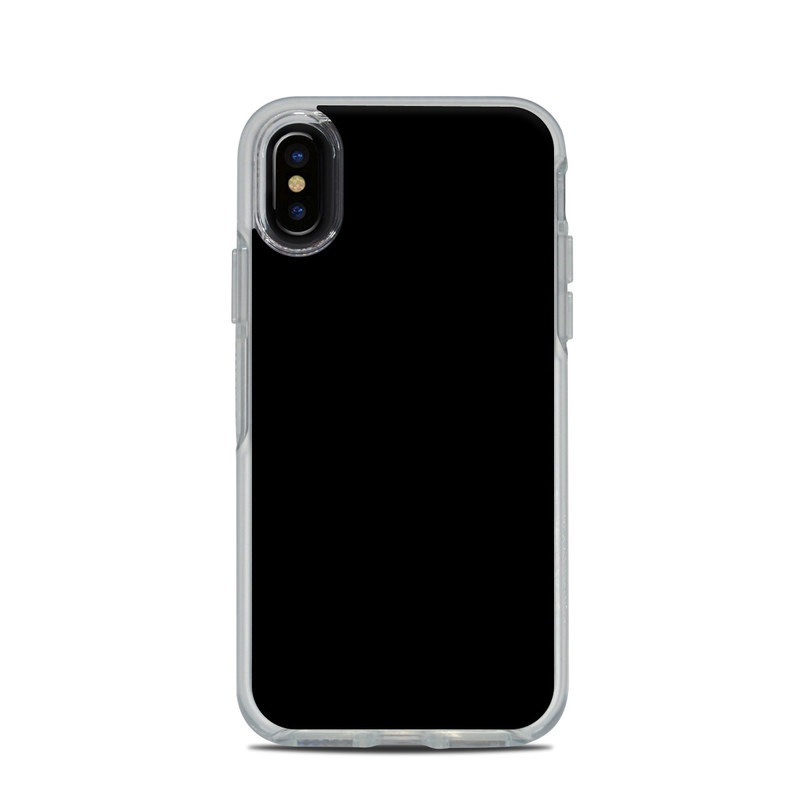 OtterBox Symmetry Clear iPhone X Case Skin - Solid State Black by ... 1f29fb27c4c0