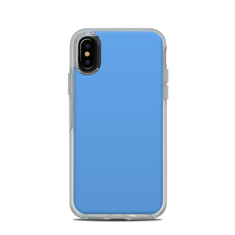 huge selection of 606f8 51cdb OtterBox Symmetry Clear iPhone X Case Skin - Solid State Blue