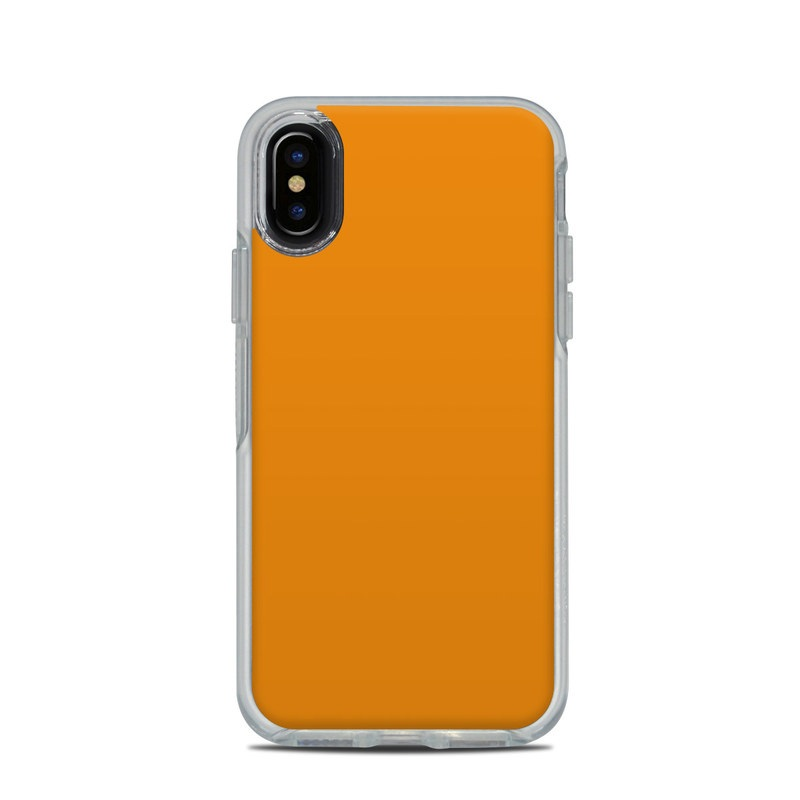 timeless design 69a12 c3697 OtterBox Symmetry Clear iPhone X Case Skin - Solid State Orange